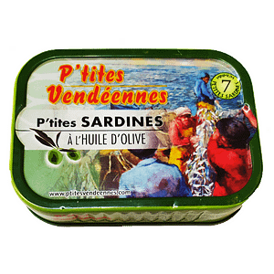 Sardines les p'tites vendéennes à l'huile d'olive
