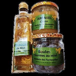 Panier garni miel de Vendée artisanal
