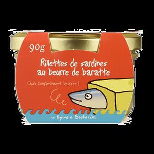Rillettes de Poissons de Sardine au Beurre de Baratte Ty-Gwenn packaging humoristique